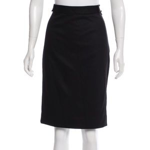 Diane von Furstenberg Black Panel Pencil Skirt